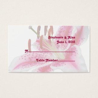 Stargazer Lily Wedding Place Cards