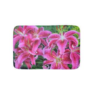 Stargazer Oriental Lilies Bath Mat