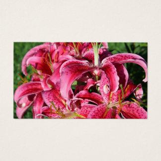 Stargazer Pink Oriental Lilies Business Card