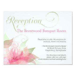 Stargazer Pink & White Floral Wedding Reception Card