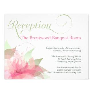 Stargazer Pink & White Floral Wedding Reception Invitation