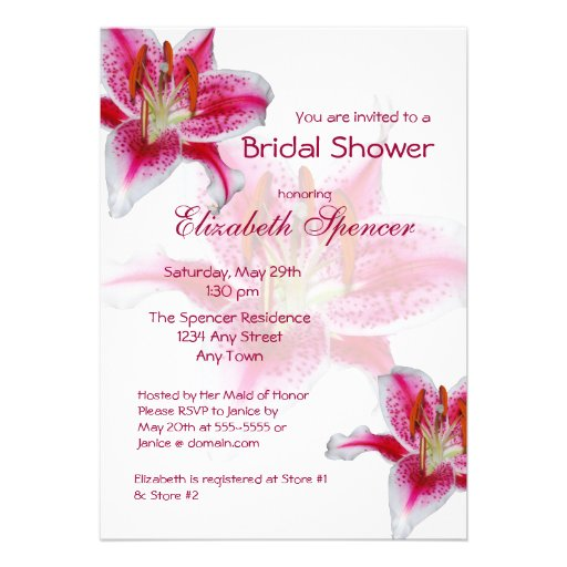 Stargazer Silhouette Bridal Shower Invitation