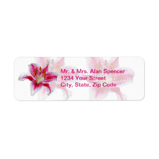 Stargazer Silhouette Wedding Return Address Labels