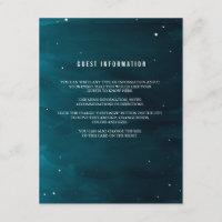 Stargazer Wedding Insert Card
