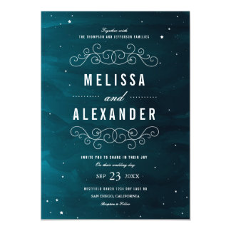 Stargazer Wedding Invitation