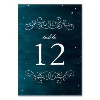 Stargazer Wedding Table Numbers