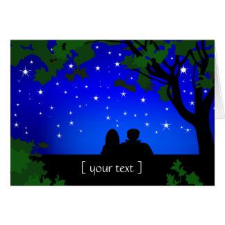 Stargazers Couple Starry Night Greeting Card