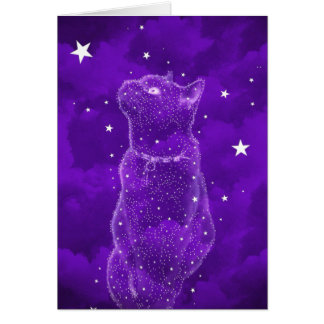 Stargazing Cat Greeting Card