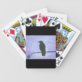 Stargazing Crow Bicycle Playing Cards