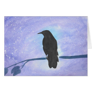 Stargazing Crow Card