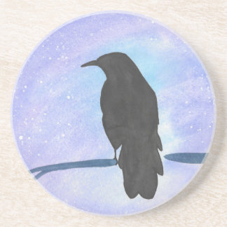 Stargazing Crow Coaster