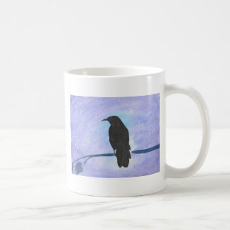 Stargazing Crow Coffee Mug