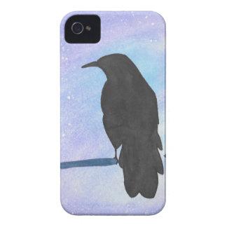 Stargazing Crow iPhone 4 Case-Mate Cases
