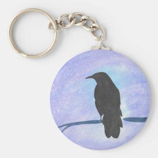 Stargazing Crow Keychain