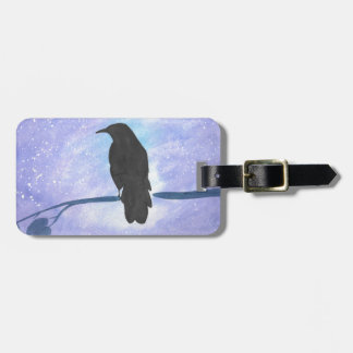 Stargazing Crow Luggage Tag