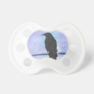 Stargazing Crow Pacifier