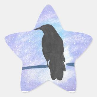 Stargazing Crow Star Sticker