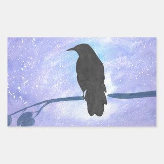 Stargazing Crow Sticker