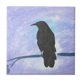 Stargazing Crow Tile