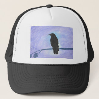 Stargazing Crow Trucker Hat