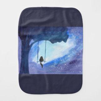 Stargazing Kitty Burp Cloth