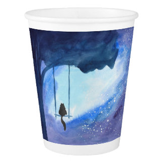 Stargazing Kitty Paper Cup