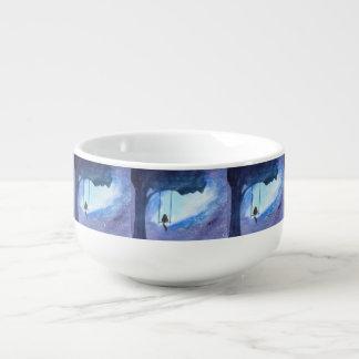 Stargazing Kitty Soup Mug