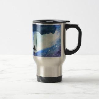 Stargazing Kitty Travel Mug