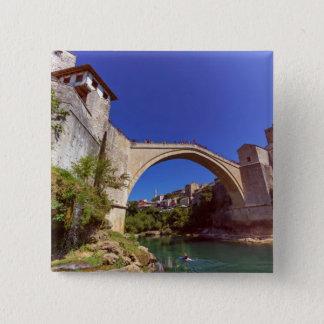 Stari Most, Mostar, Bosnia and Herzegovina 2 Inch Square Button