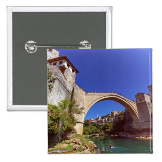 Stari Most, Mostar, Bosnia and Herzegovina 2 Inch Square Button