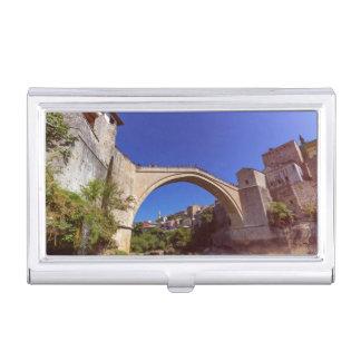 Stari Most, Mostar, Bosnia and Herzegovina Business Card Holder