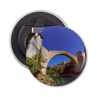 Stari Most, Mostar, Bosnia and Herzegovina Button Bottle Opener