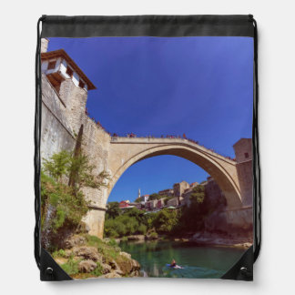 Stari Most, Mostar, Bosnia and Herzegovina Drawstring Bag