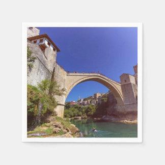 Stari Most, Mostar, Bosnia and Herzegovina Paper Napkins