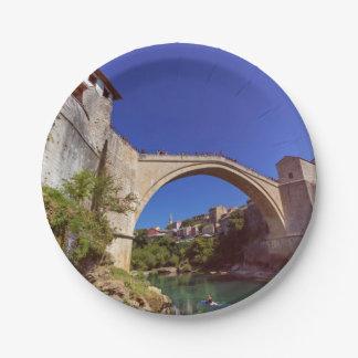 Stari Most, Mostar, Bosnia and Herzegovina Paper Plate