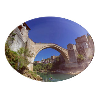 Stari Most, Mostar, Bosnia and Herzegovina Porcelain Serving Platter