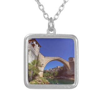 Stari Most, Mostar, Bosnia and Herzegovina Silver Plated Necklace