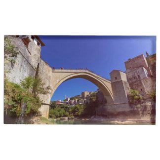 Stari Most, Mostar, Bosnia and Herzegovina Table Card Holders