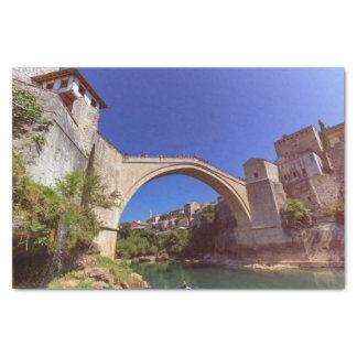 Stari Most, Mostar, Bosnia and Herzegovina Tissue Paper