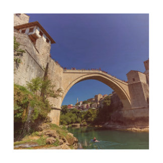 Stari Most, Mostar, Bosnia and Herzegovina Wood Wall Decor