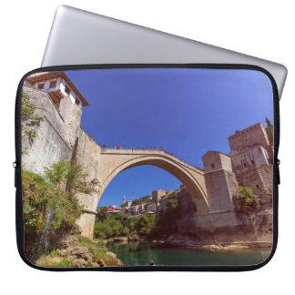 Stari Most, old bridge, Mostar, Bosnia and Herzego Laptop Sleeve