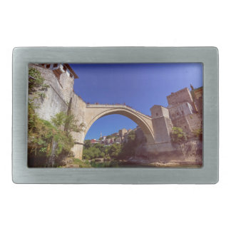 Stari Most, old bridge, Mostar, Bosnia and Herzego Rectangular Belt Buckles