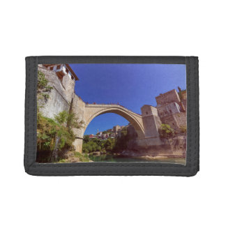 Stari Most, old bridge, Mostar, Bosnia and Herzego Tri-fold Wallets