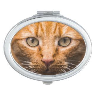 Staring Cat pocket mirror Makeup Mirror