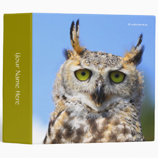 Staring Contest with a Beautiful Great Horned Owl Binders