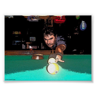 Staring Down The 9 Ball Poster