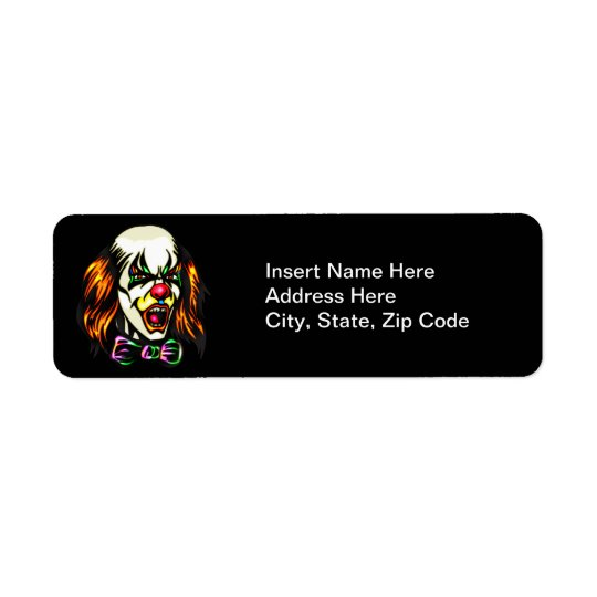 Staring Evil Clown Return Address Label