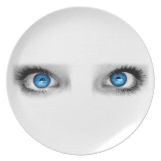 Staring Eyes Plate