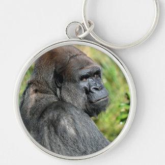 Staring Gorilla Keychain