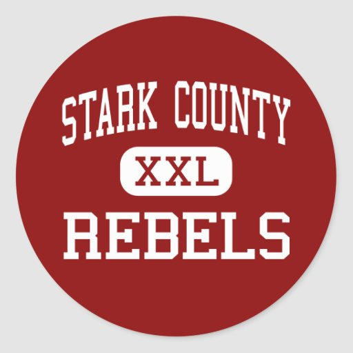 Stark County - Rebels - High - Toulon Illinois Round Stickers